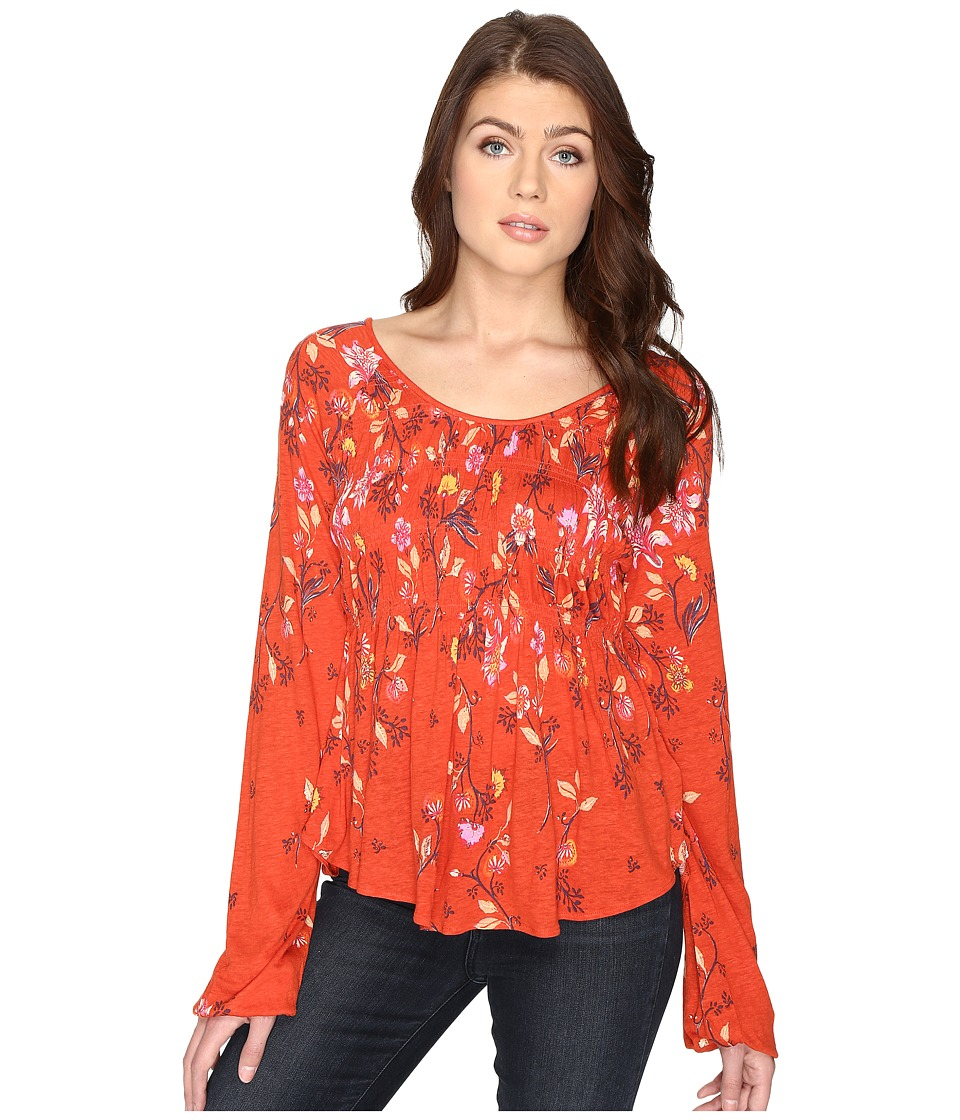 Free People - Dahlia Top (Orange) Women's Clothing