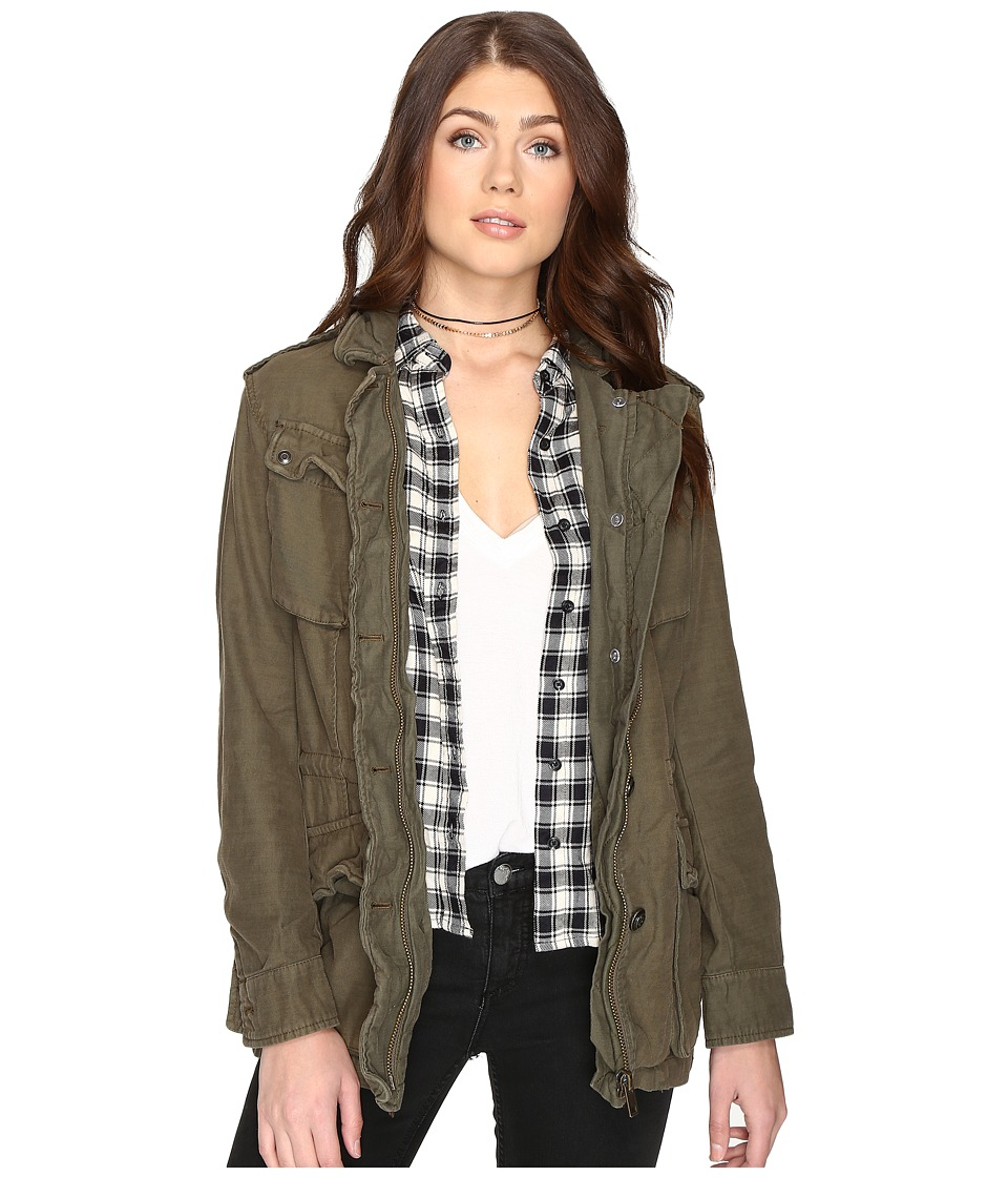 Free People - Not Your Brother's Jacket (Moss) Women's Coat