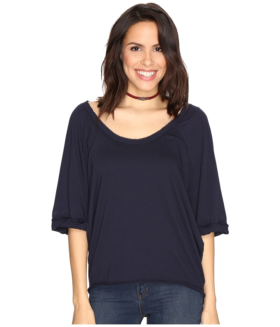 Free People - Moonlight Tee (Dark Blue) Women's Clothing