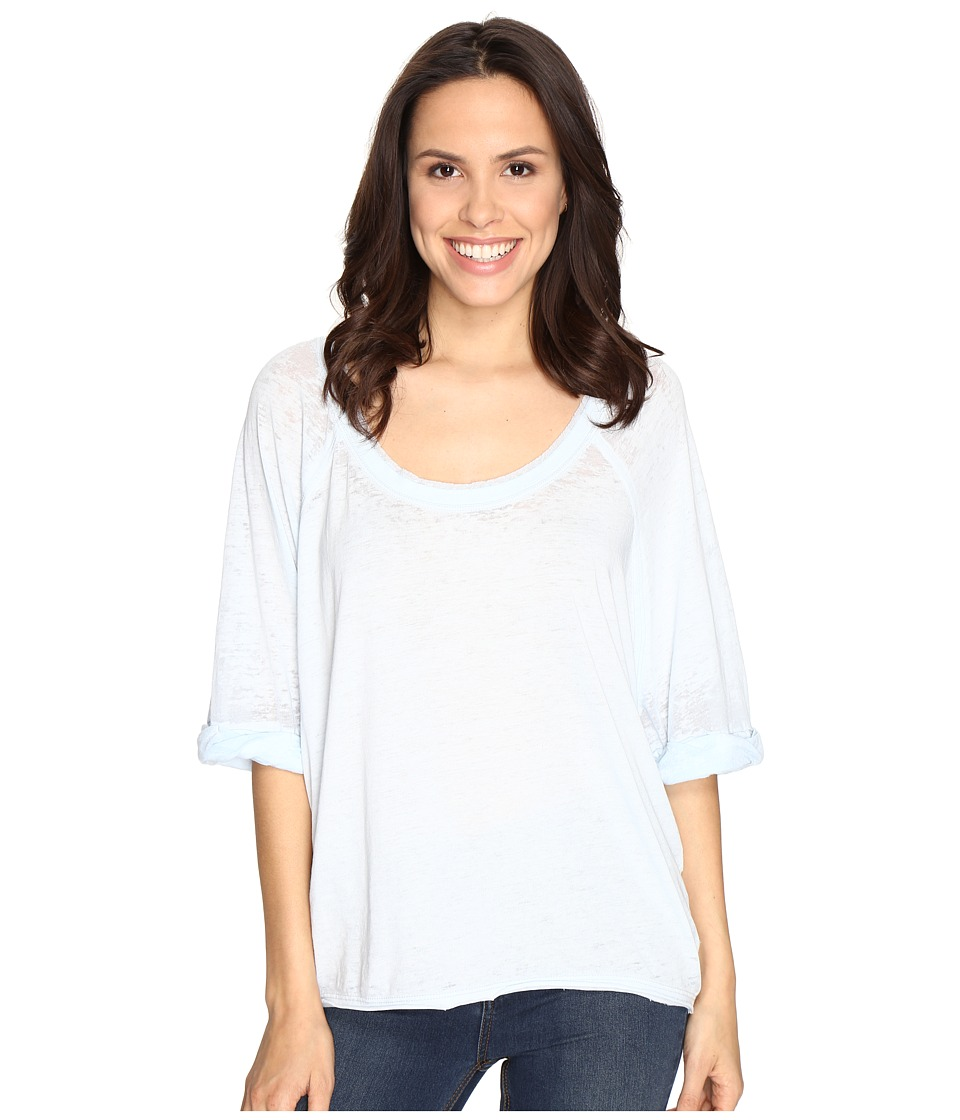 Free People - Moonlight Tee (Sky) Women's Clothing