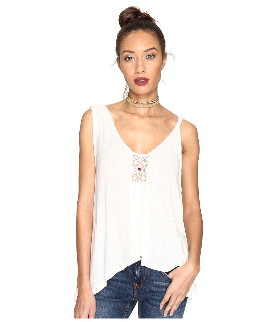 Free People - New Vibes Tee (Ivory) Women's Sleeveless