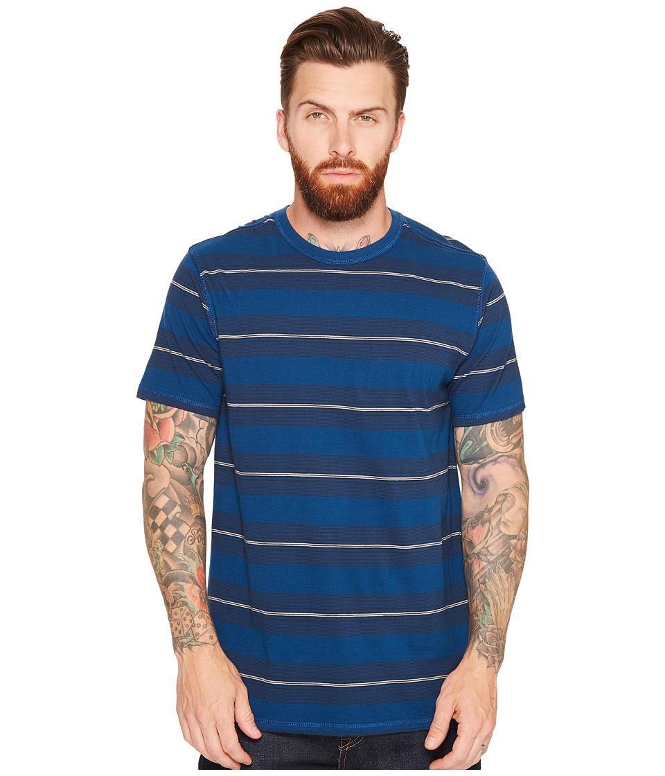 Tavik - Newport Short Sleeve Knit (Blue/Dark Blue) Men's Clothing