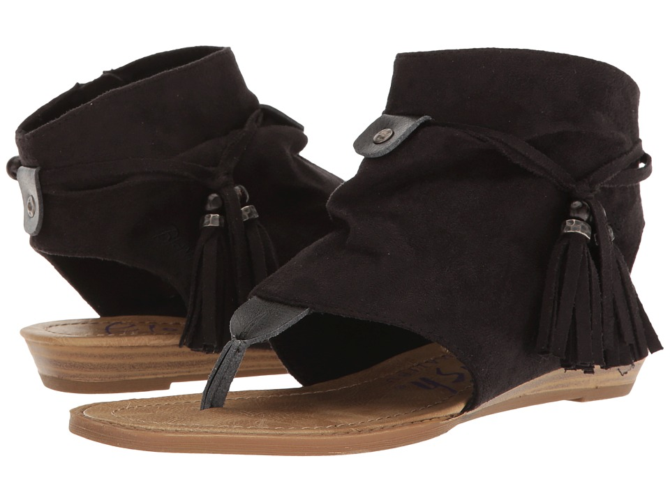 Blowfish - Brueke (Black Micro Deluxe/Black Dyecut PU) Women's Sandals