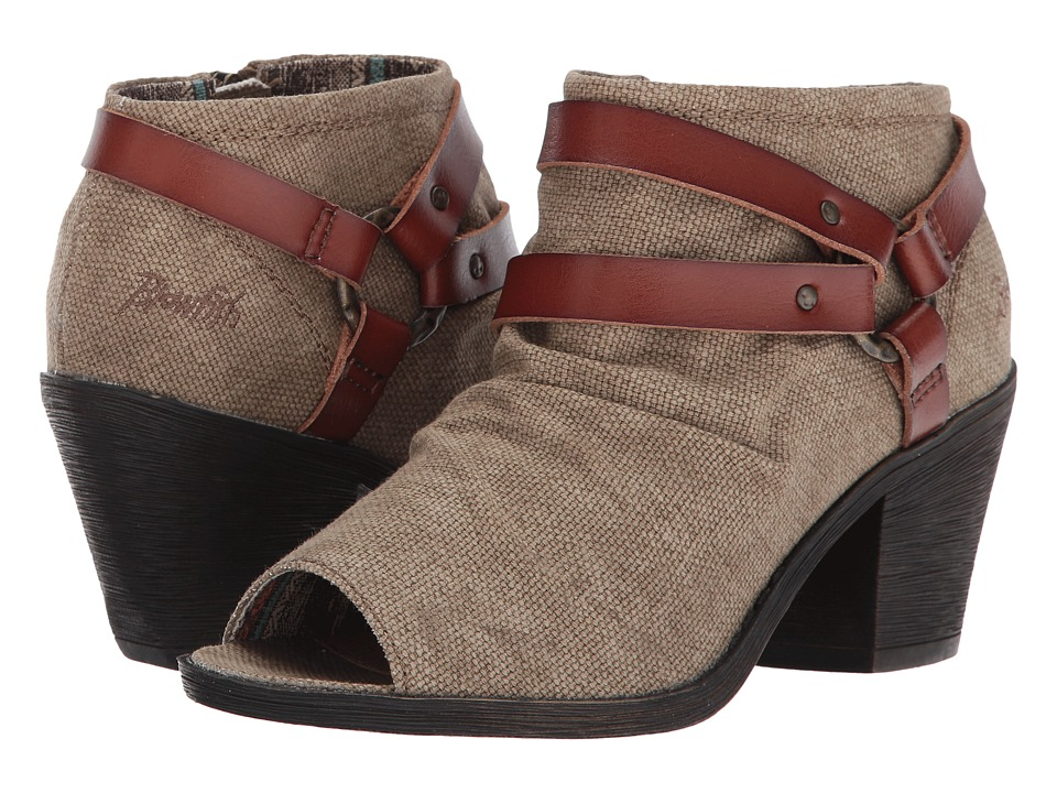 Blowfish - Skraa (Cocoa Rancher Canvas/Scotch Dyecut PU) Women's Boots