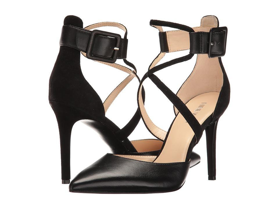 Nine West - Nanura (Black Kid Leather/Black Suede) High Heels