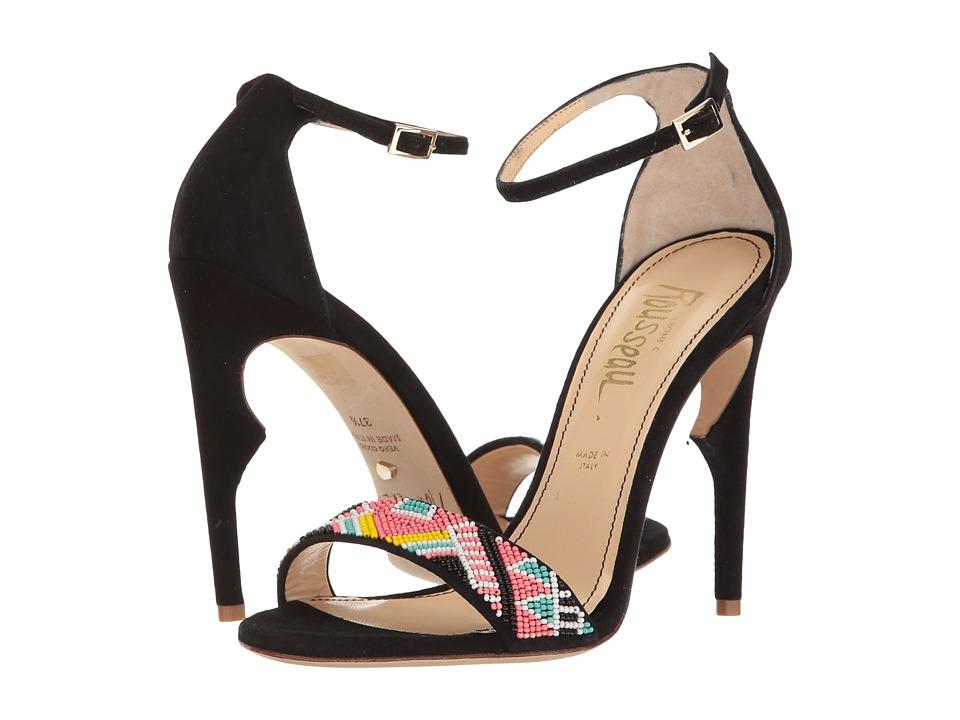 Jerome C. Rousseau - Malibu Beaded Ankle Strapped Heel (Black Multi) High Heels