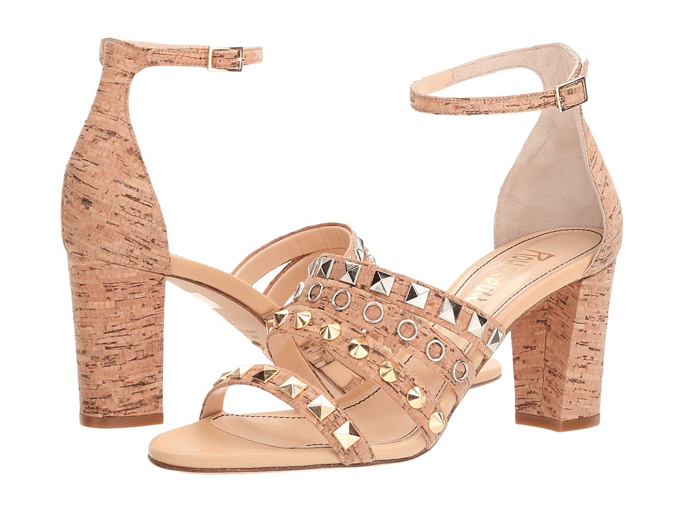 Jerome C. Rousseau Cork Studded Ankle Strapped Heel (Natural Cork Beige) High Heels