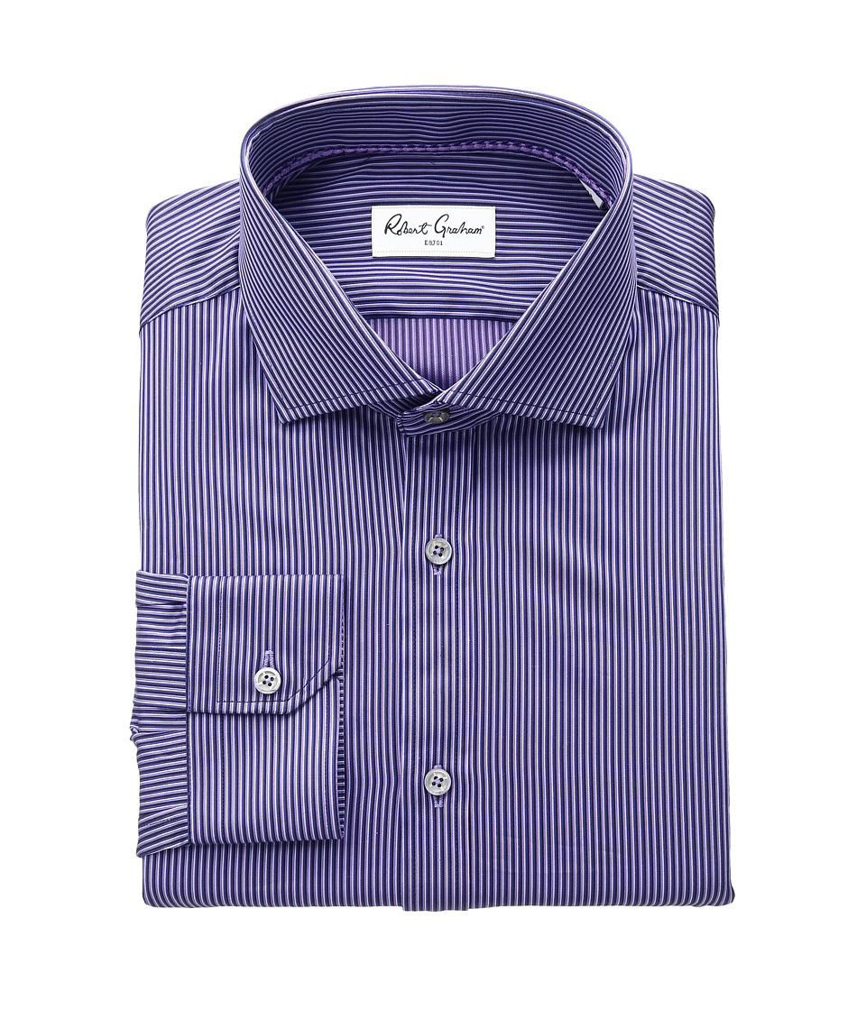 Robert Graham - Olaf Dress Shirt (Purple) Men's Long Sleeve Button Up