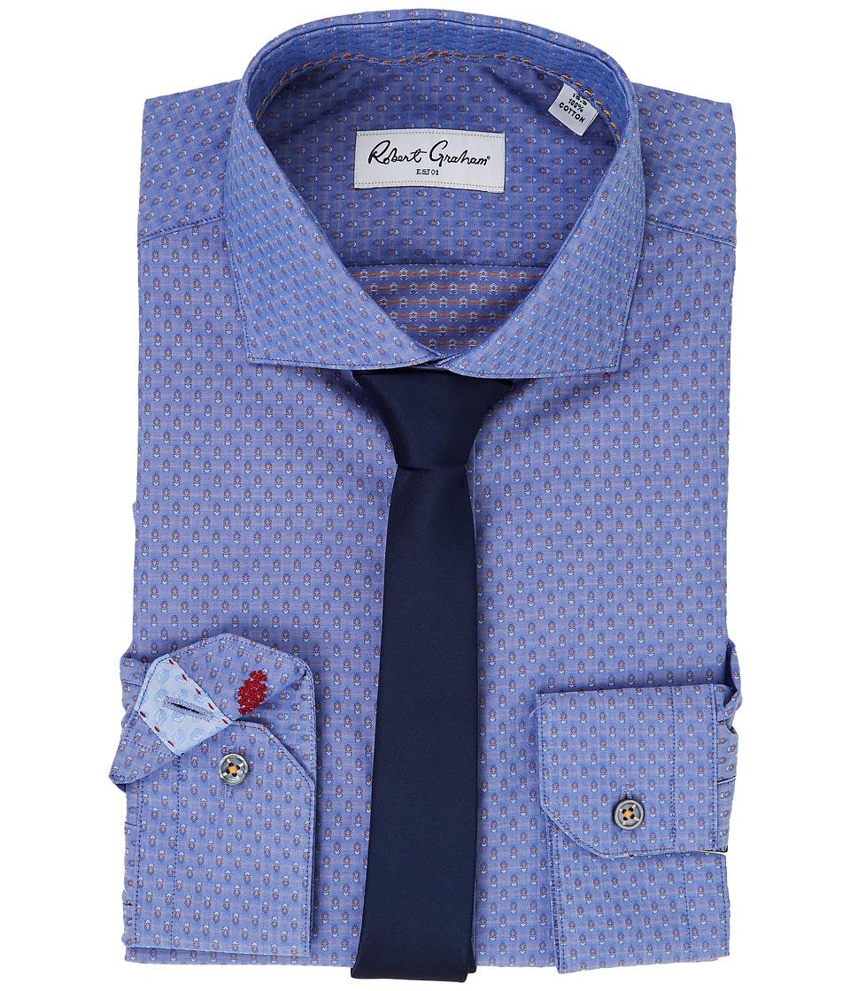 Robert Graham - Carlton Dress Shirt (Blue) Men's Long Sleeve Button Up