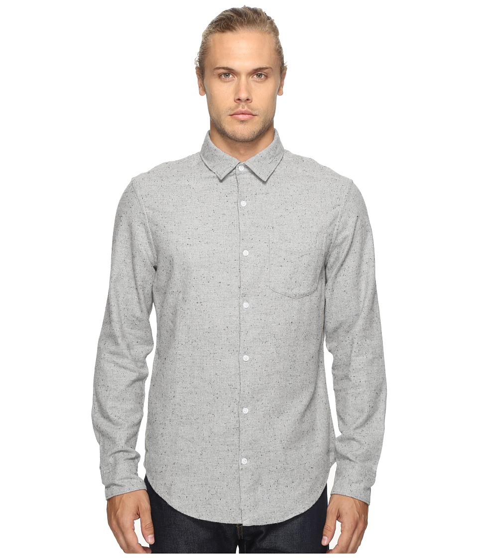 Original Penguin - Long Sleeve Brushed Oxford Woven Shirt (Rain Heather) Men's Long Sleeve Button Up