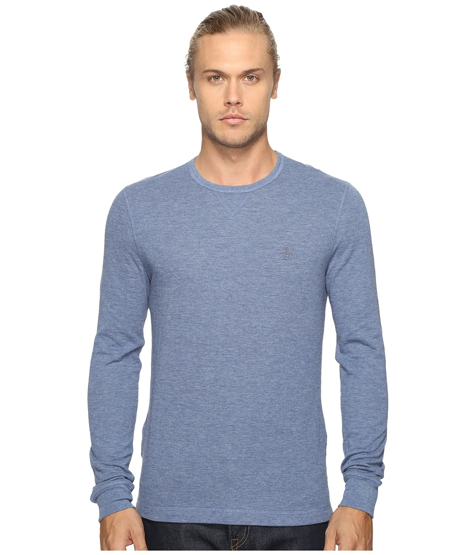 Original Penguin - Long Sleeve Reversible Tee (Bering Sea) Men's T Shirt
