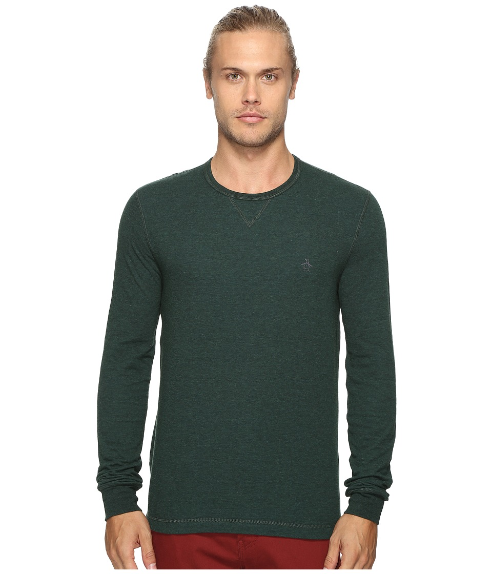 Original Penguin - Long Sleeve Reversible Tee (Darkest Spruce) Men's T Shirt