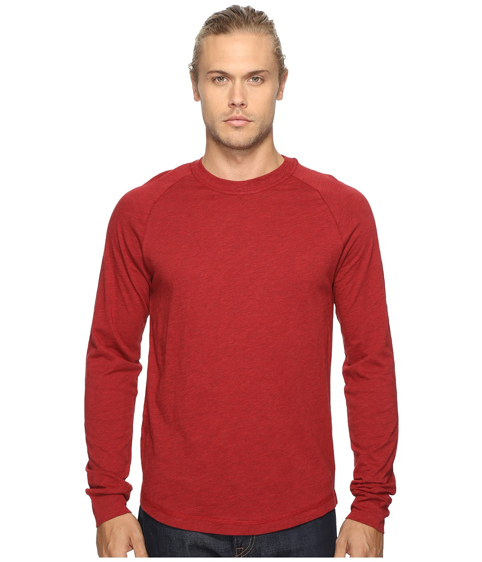 Original Penguin - New Bada Long Sleeve Tee (Red Dahlia) Men's T Shirt