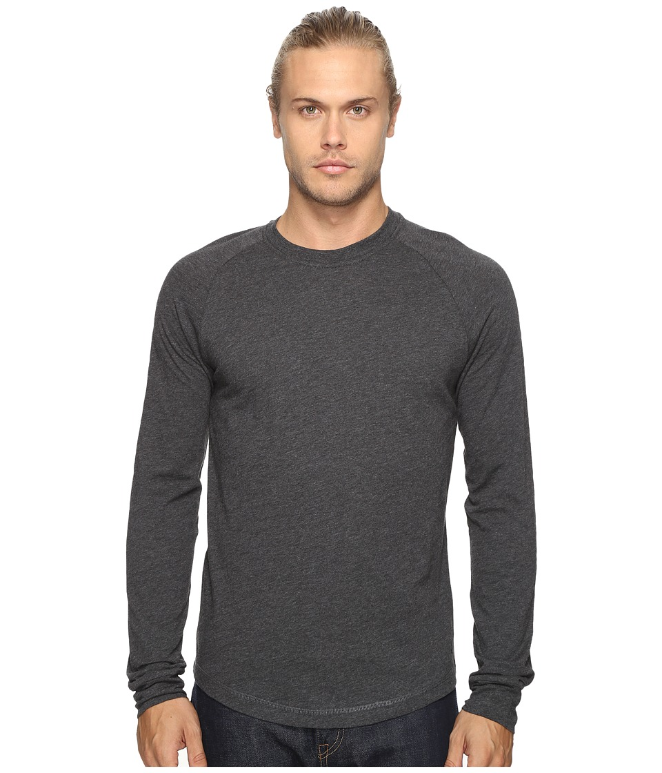 Original Penguin - New Bada Long Sleeve Tee (Dark Charcoal Heather) Men's T Shirt