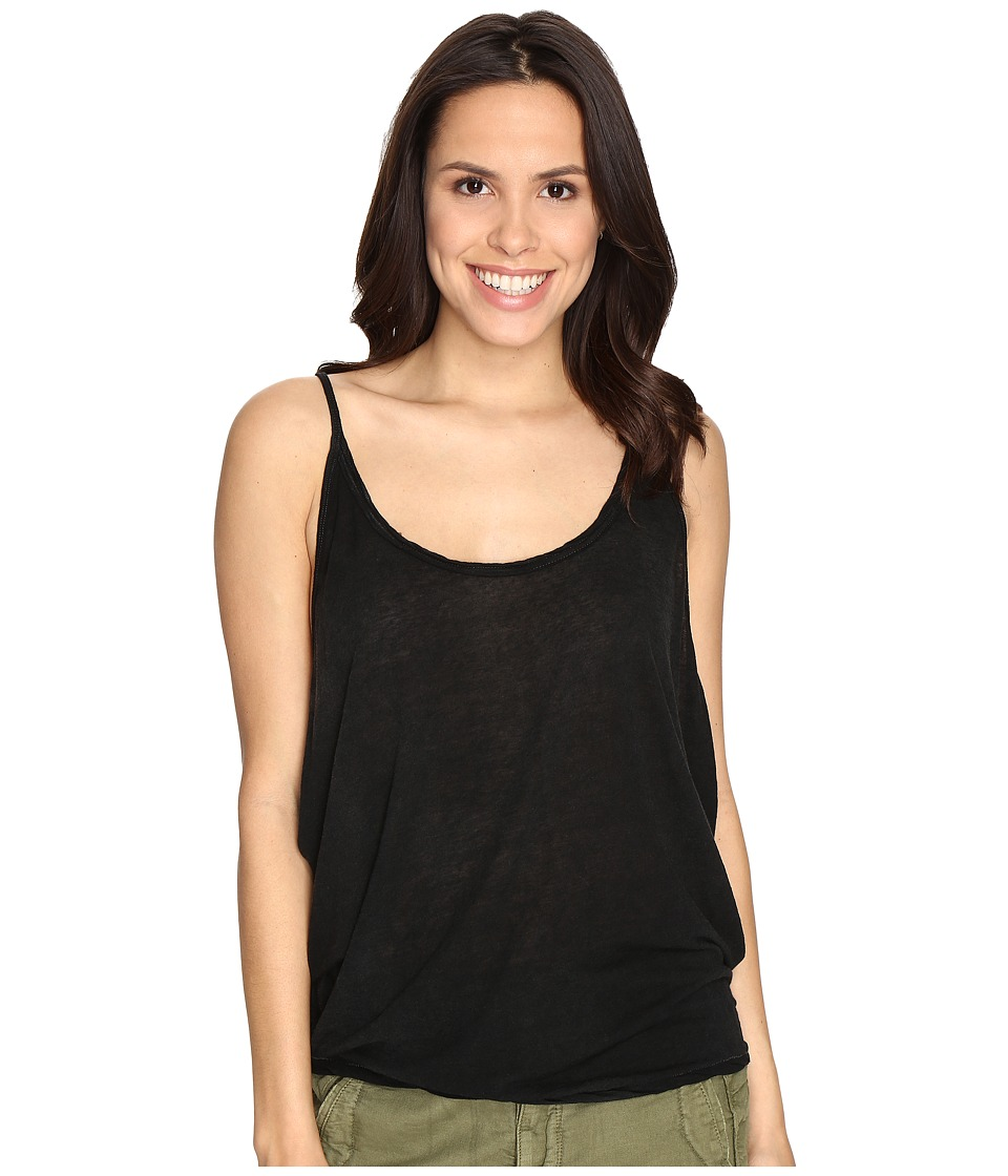 Free People - Sand Dollar Tank Top (Black) Women's Sleeveless