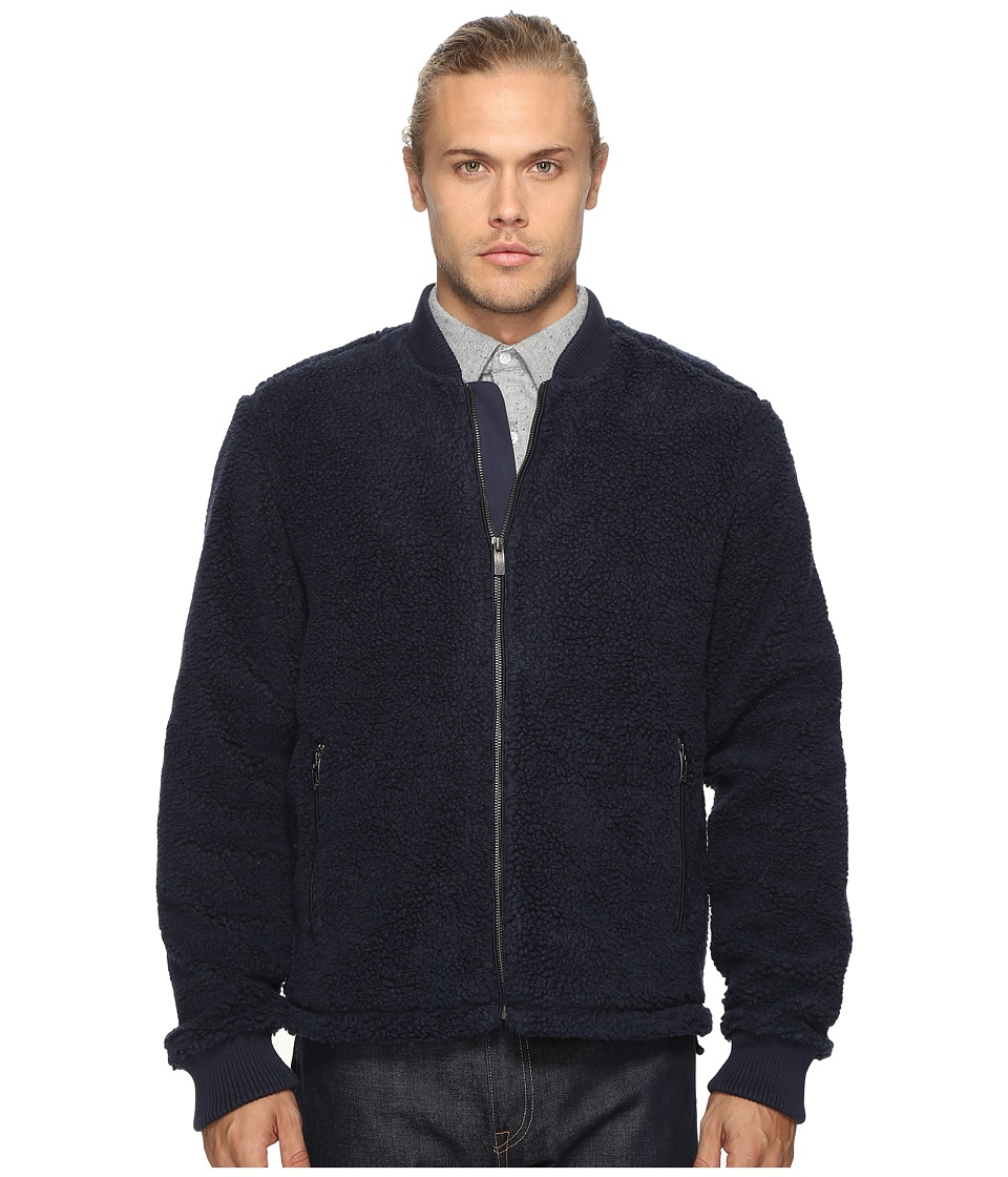 Original Penguin - Sherpa Bomber Jacket (Dark Sapphire) Men's Coat