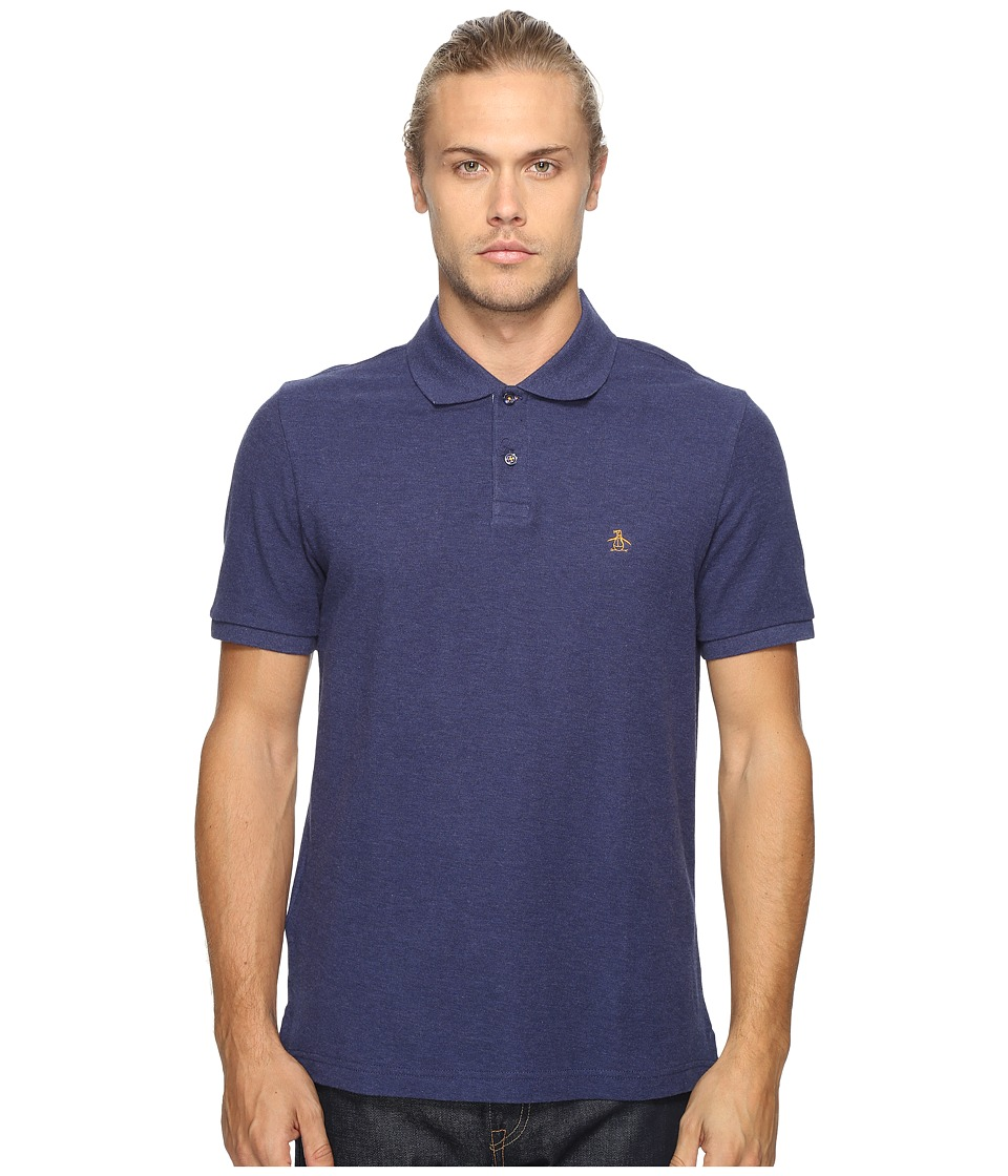 Original Penguin - Daddy-O Polo (Evening Blue) Men's Short Sleeve Pullover