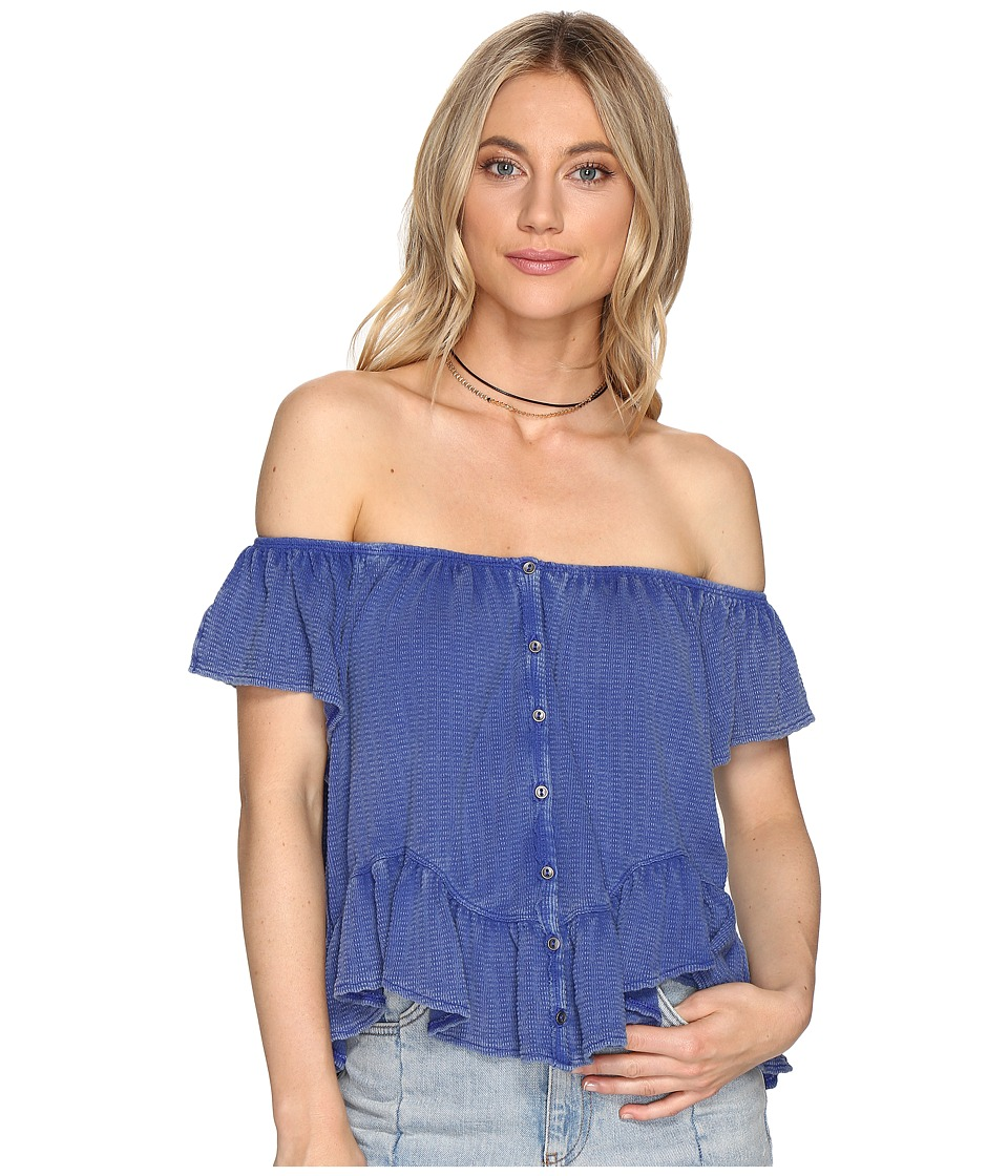Free People - Mint Julep Tee (Blue) Women's Clothing