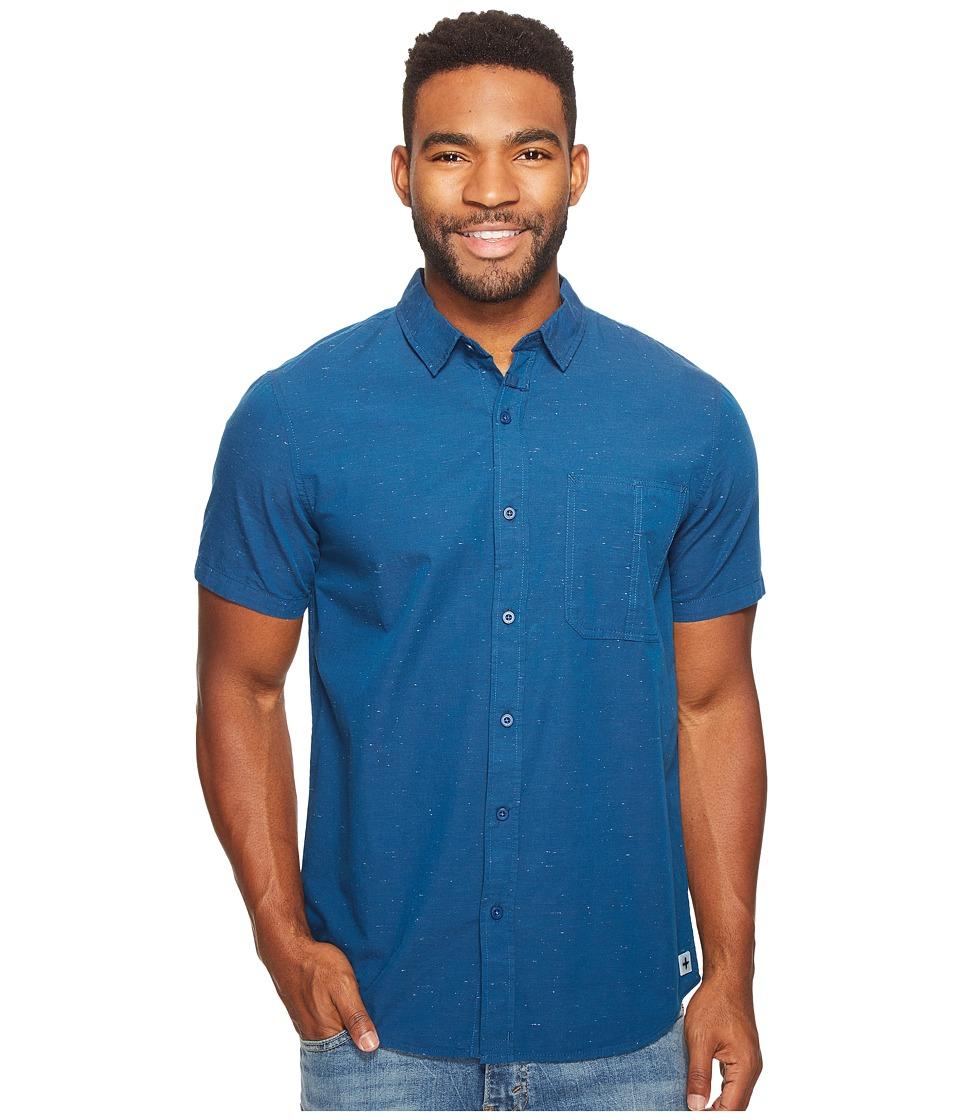 Tavik - Delancy Short Sleeve Woven (Blue) Men's Short Sleeve Pullover