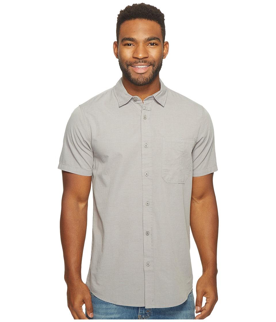 Tavik - Delancy Short Sleeve Woven (Light Grey) Men's Short Sleeve Pullover