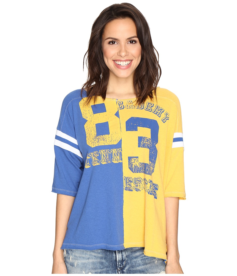 Free People - Dream Player Tee (Blue) Women's T Shirt