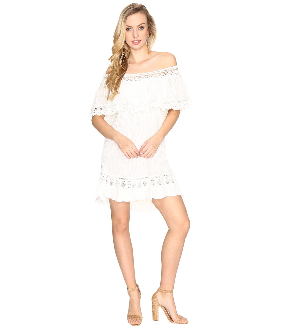 Jen's Pirate Booty - Chiapas Mini Dress (White) Women's Dress