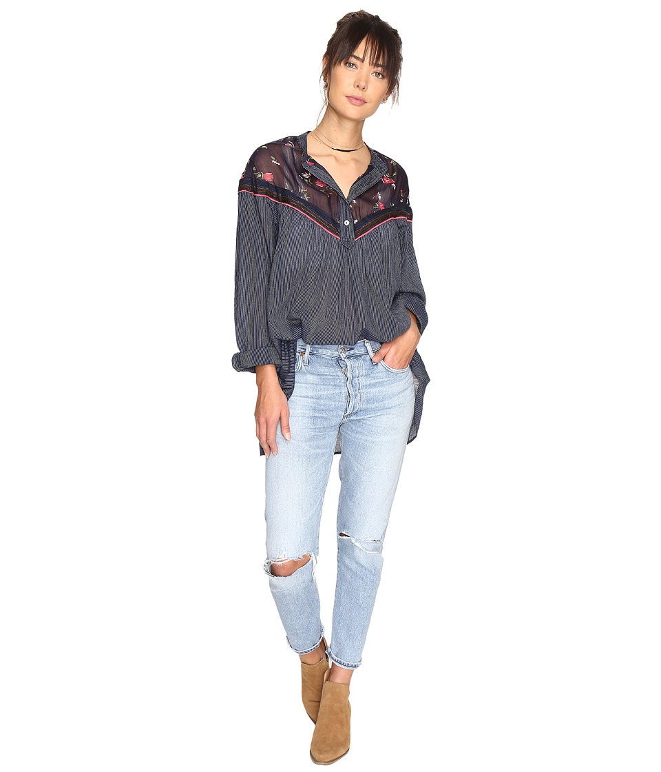 Free People - Hearts and Colors Top (Navy) Women's Clothing