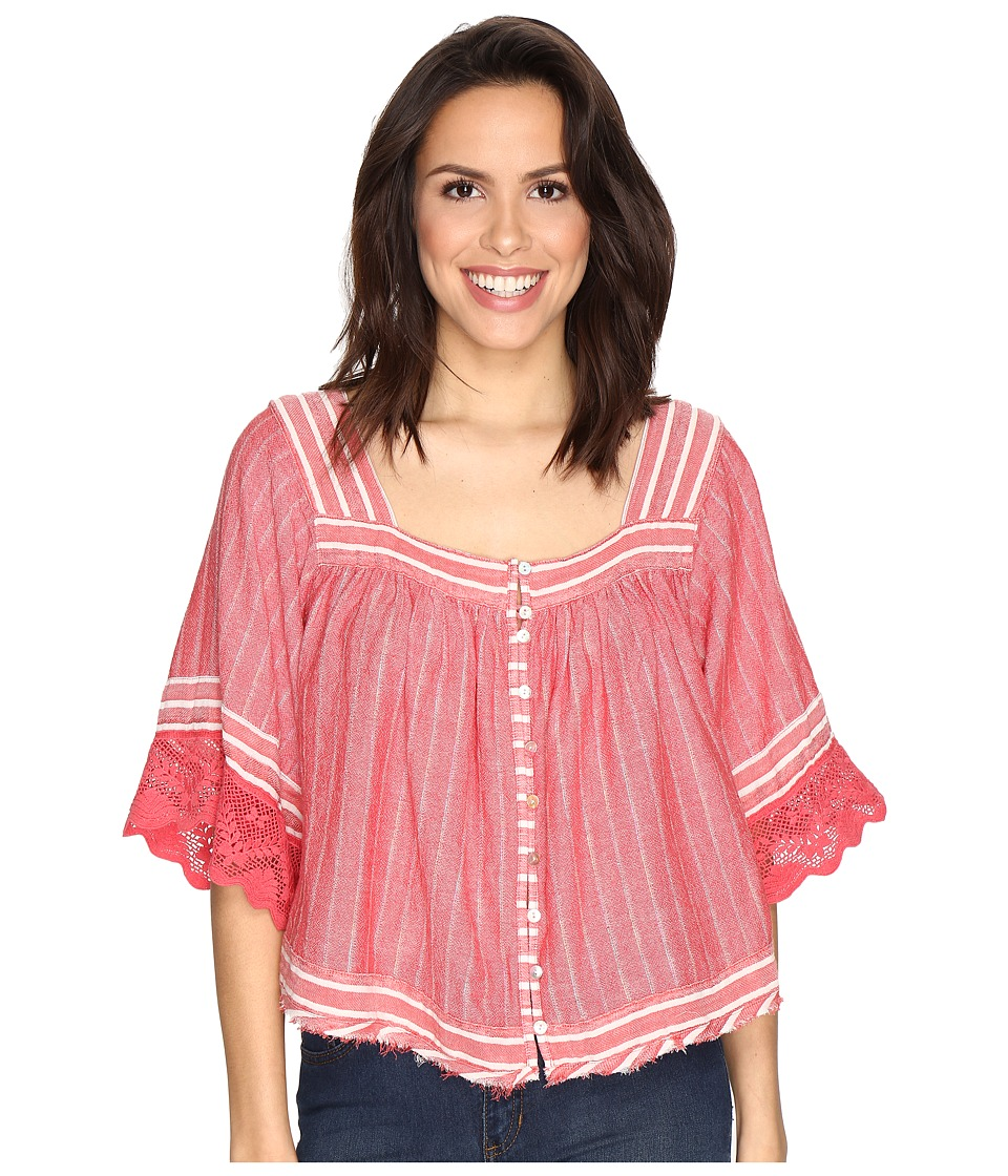 Free People - See Saw Top (Red) Women's Clothing
