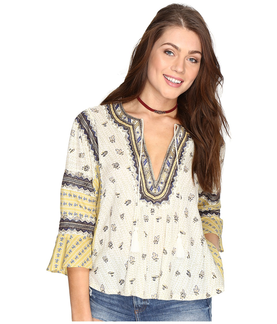 Free People - But I like It Top (Ivory) Women's Clothing