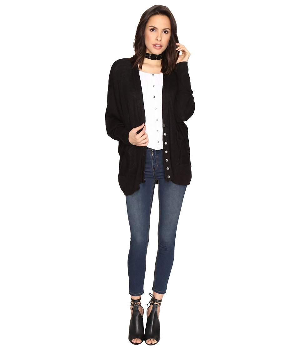 Free People - Days Like This Cardigan (Black) Women's Sweater