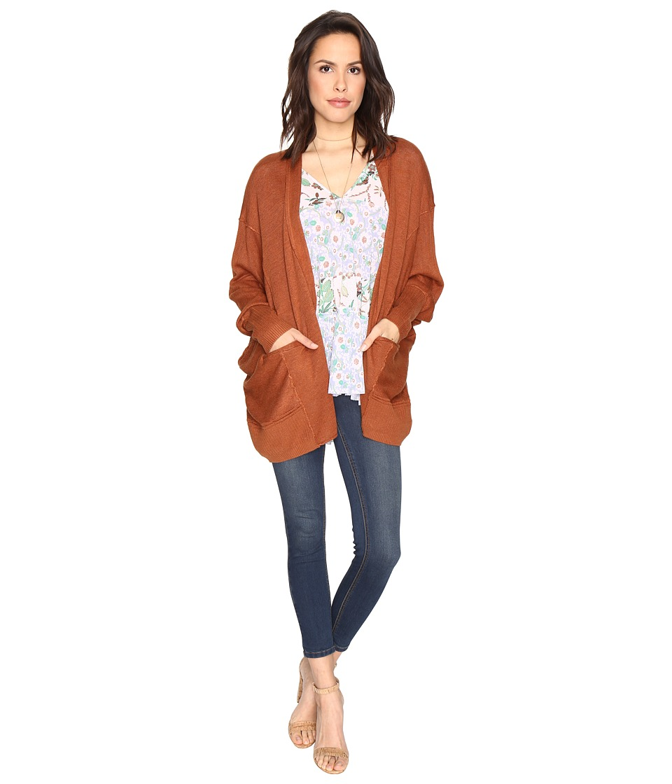 Free People - Days Like This Cardigan (Brown) Women's Sweater