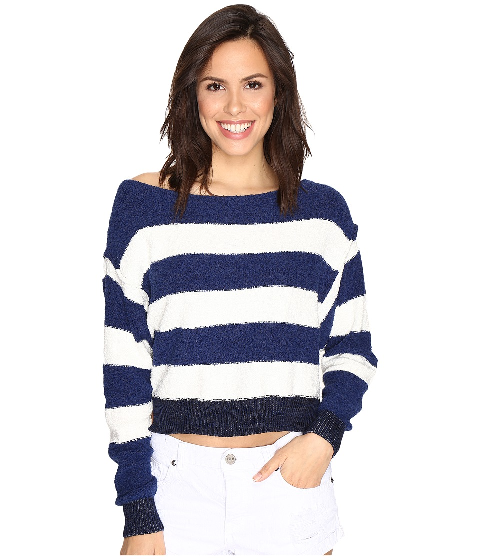 Free People - Candyland Pullover (Navy) Women's Clothing