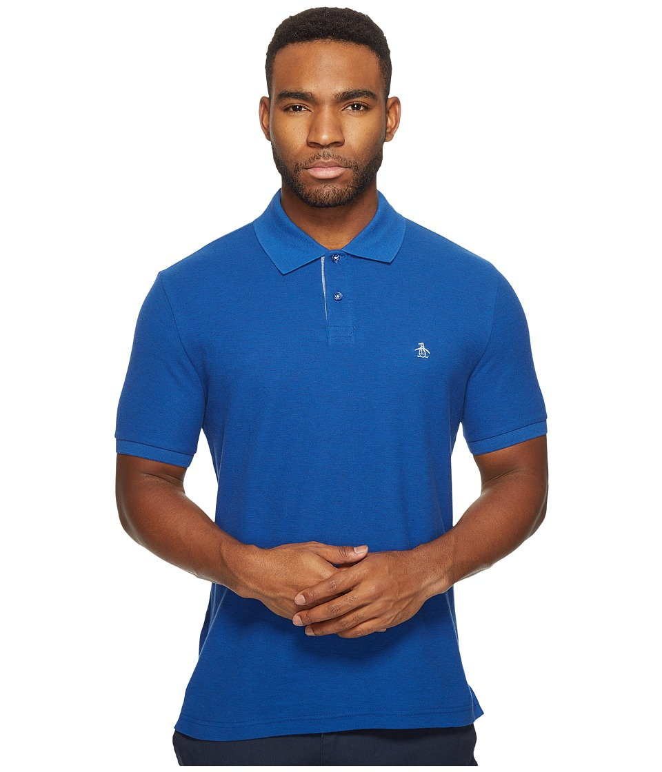 Original Penguin - Daddy-O Polo (Monaco Blue) Men's Short Sleeve Pullover