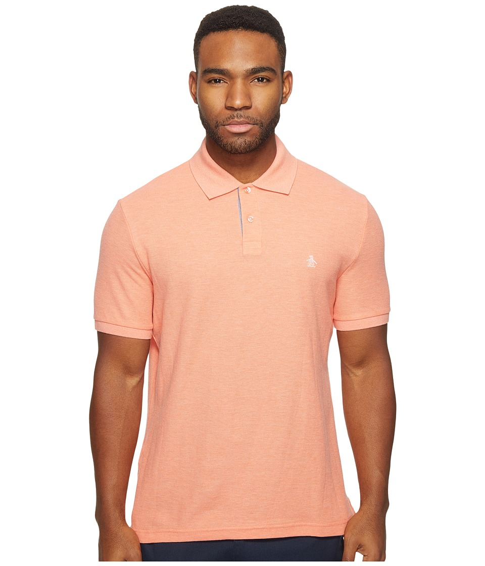 Original Penguin - Daddy-O Polo (Persimmon) Men's Short Sleeve Pullover