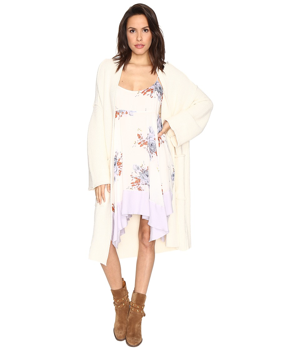 Free People - By The Campfire Cardigan (Ivory) Women's Clothing