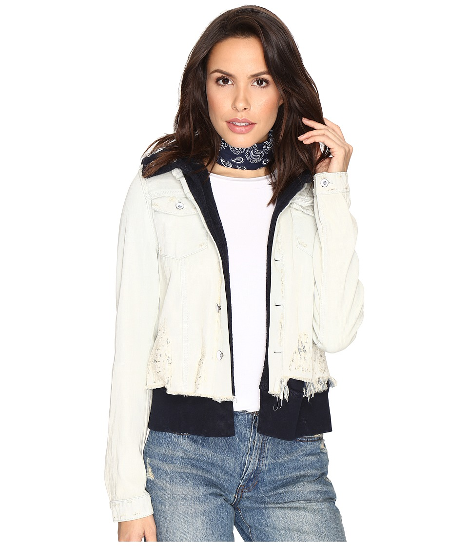 Free People - Double Weave Denim Jacket (White) Women's Coat