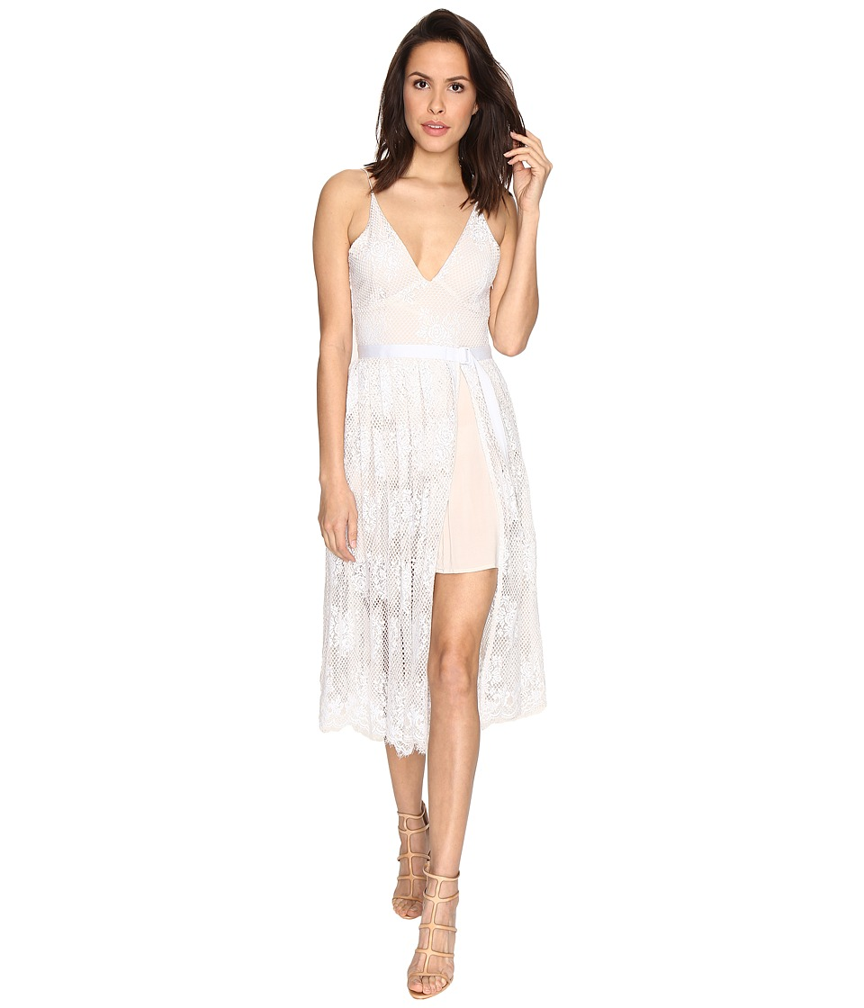 Free People - Matchpoint Midi Lace Dress (Ivory Combo) Women's Dress