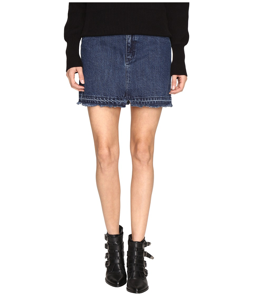 Free People - Step Up Denim Mini (Dark Denim) Women's Skirt