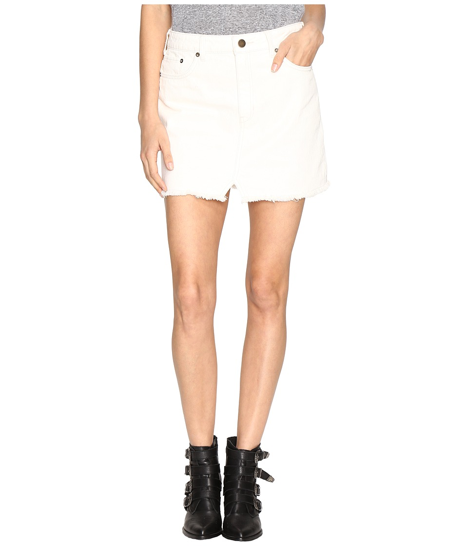 Free People - Step Up Denim Mini (Ivory) Women's Skirt