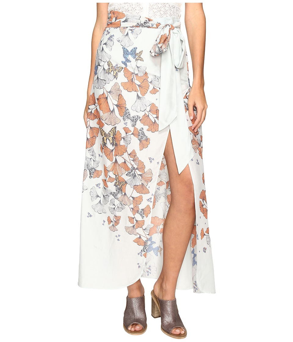 Free People Bri Bri Butterfly Maxi Dress (Blue Combo) Women