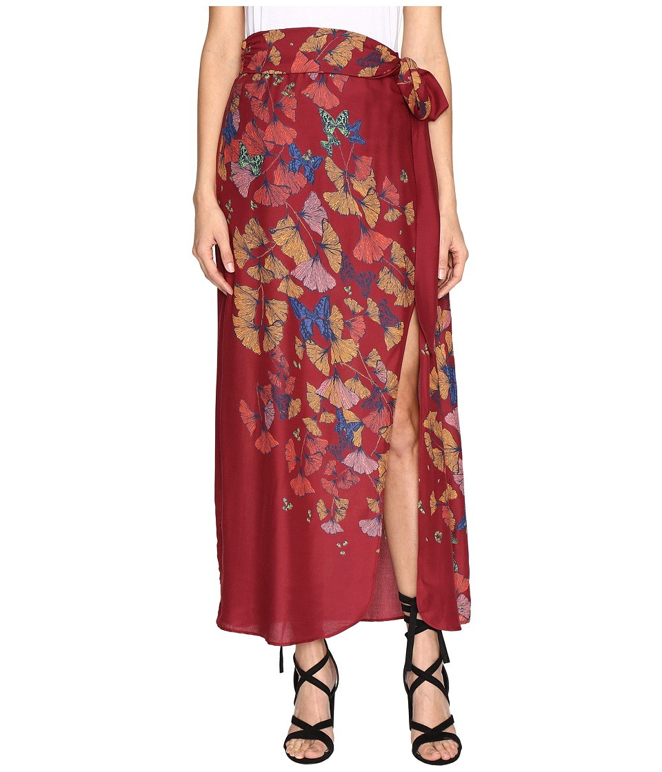 Free People - Bri Bri Butterfly Maxi Dress (Red Combo) Women's Skirt