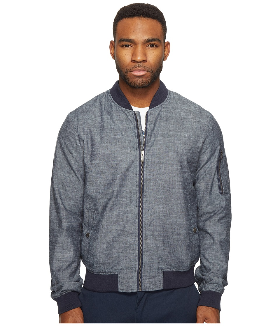 Original Penguin - Chambray MA1 Bomber Jacket (Dark Sapphire) Men's Coat