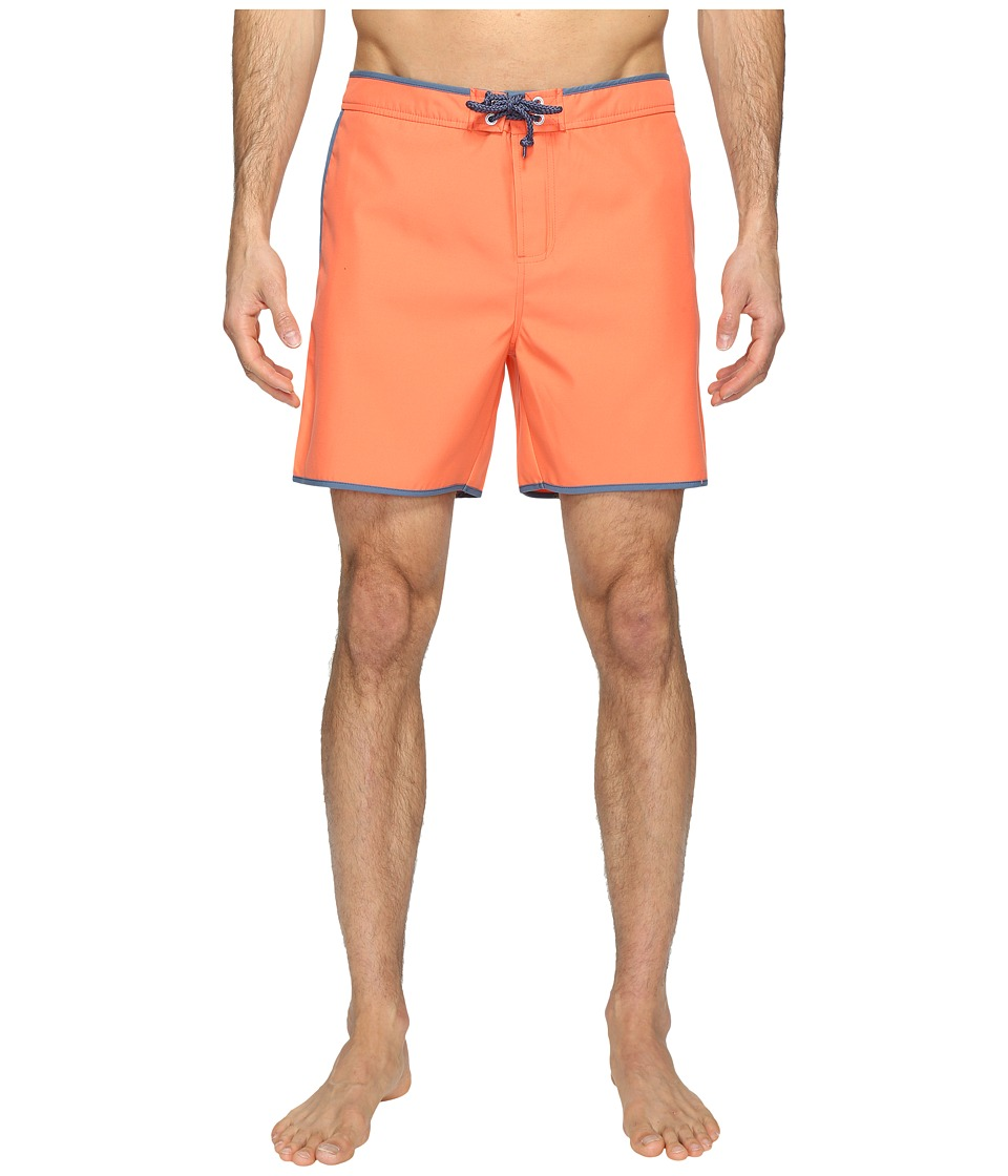 Original Penguin - Earl Fixed Volley Swim Shorts (Persimmon) Men's Swimwear