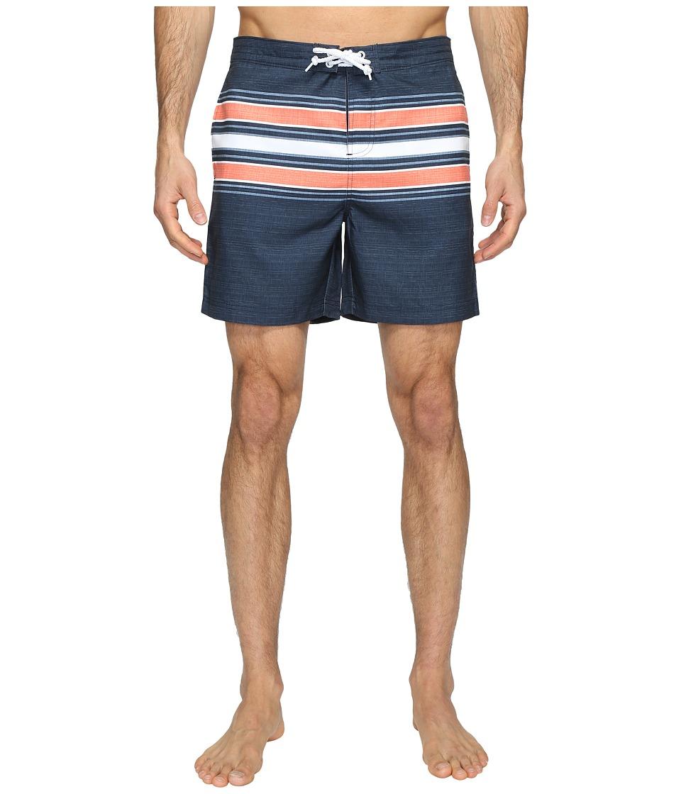 Original Penguin - Engineered Stripe Swim (Dark Sapphire) Men's Swimwear