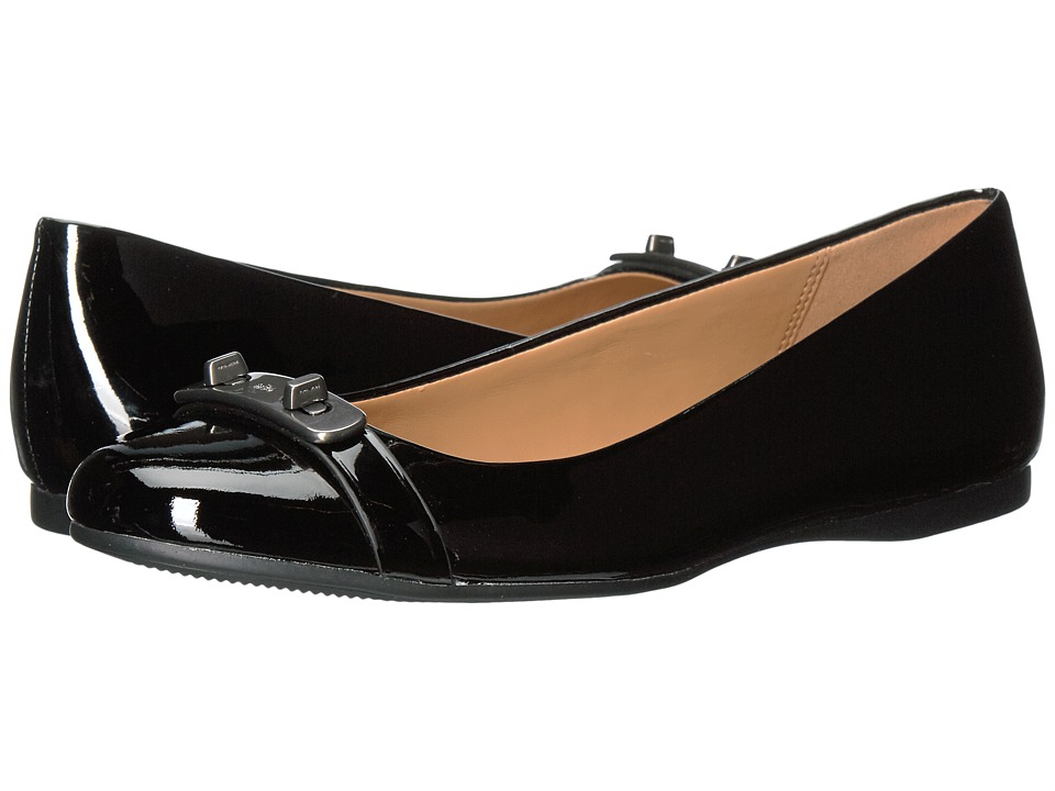 COACH - Oswald (Black/Black Patent/Patent) Women's Shoes