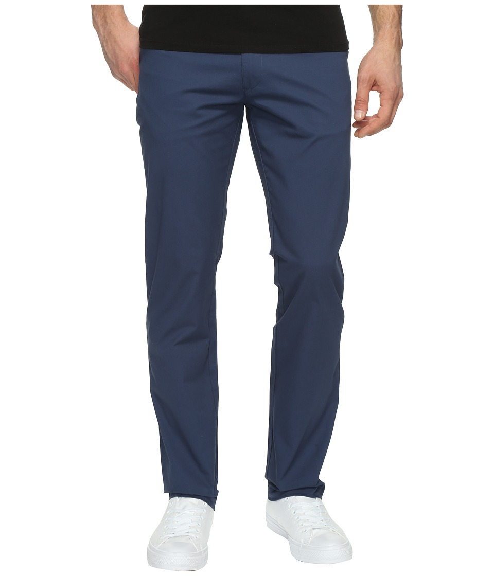 Calvin Klein - Four-Pocket Sateen Pants (Athos Blue) Men's Casual Pants