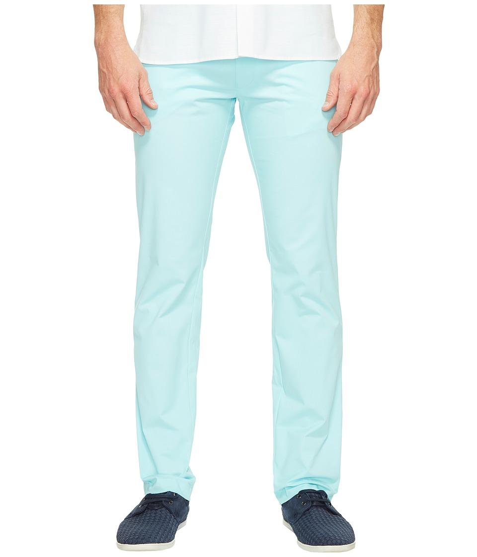 Calvin Klein - Four-Pocket Sateen Pants (Aqua Air) Men's Casual Pants