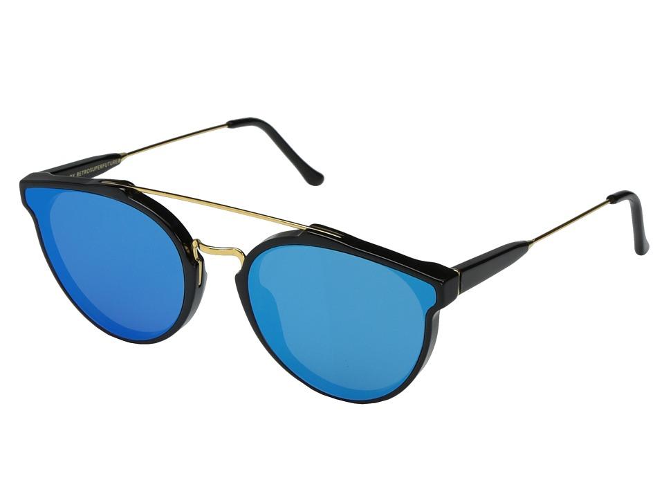 Super - Giaguaro Forma 58mm (Black/Blue) Fashion Sunglasses