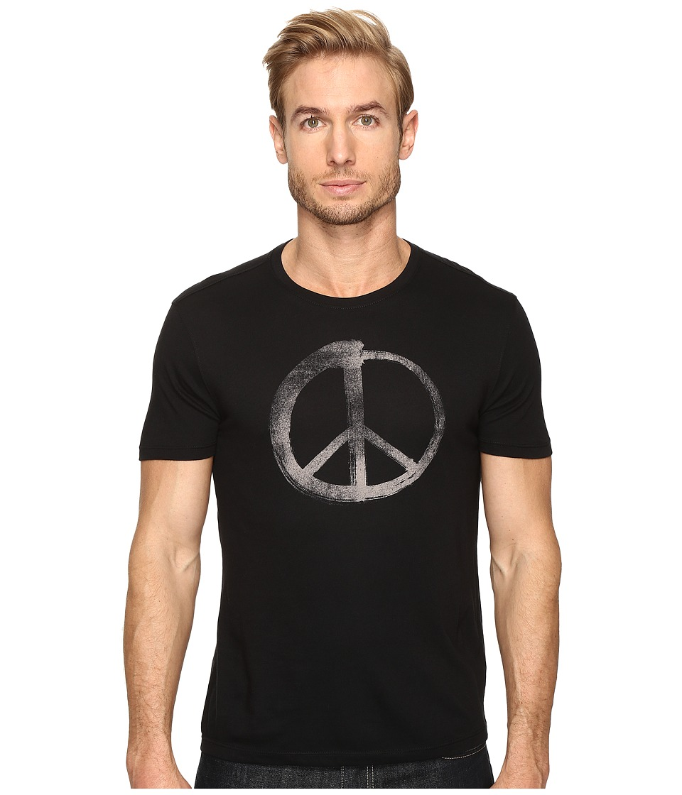 John Varvatos Star U.S.A. - Make Music Not War Graphic Tee K3021S4B (Black) Men's T Shirt