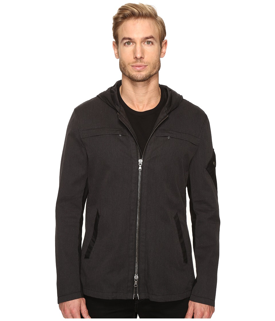 John Varvatos Star U.S.A. - Short Hooded Parka with Sleeve Pocket Detail O1469S4B (Coal) Men's Coat